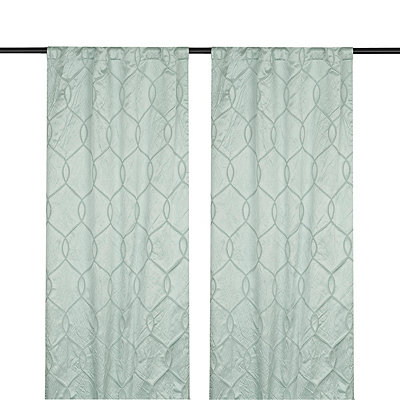 Blue Amelia Curtain Panel Set, 108 in.