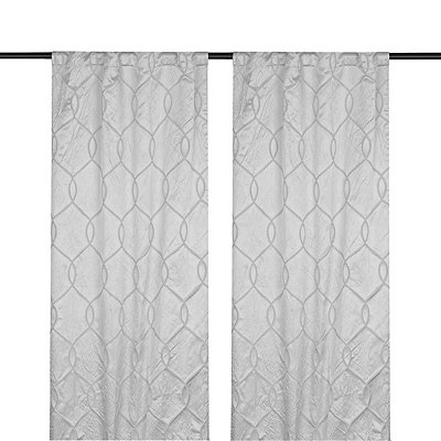 Gray Amelia Curtain Panel Set, 96 in.