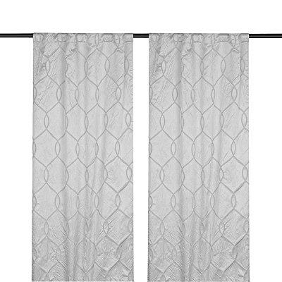 Gray Amelia Curtain Panel Set, 96 in.