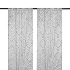 Gray Amelia Curtain Panel Set, 108 in.