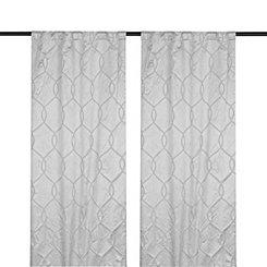 Gray Amelia Curtain Panel Set, 108 in.