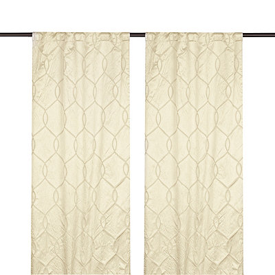 Ivory Amelia Curtain Panel Set, 96 in.