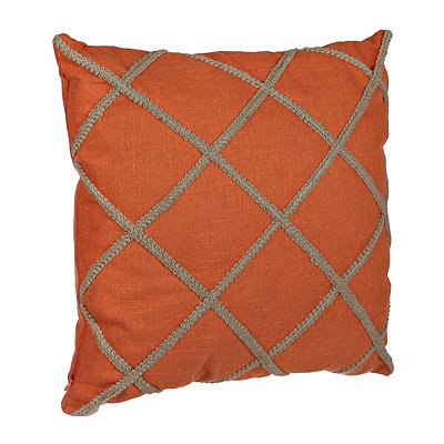 Coral Jute Lattice Pillow