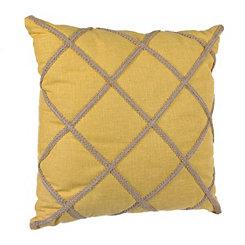 Yellow Jute Lattice Pillow