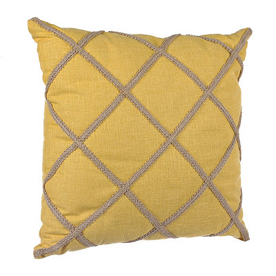 Yellow Jute Lattice Pillow