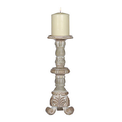 Natural Carved Candlestick, 12 in.