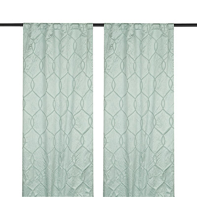 Blue Amelia Curtain Panel Set, 84 in.