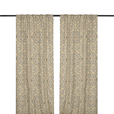 Blue Lapperine Curtain Panel Set, 84 in.