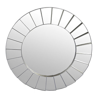 Round Mirrored Burst Mirror