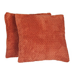 Spice Plush Luxe Pillows, Set of 2