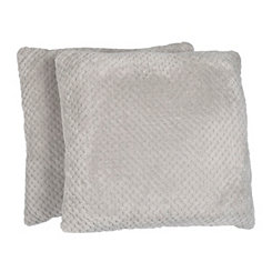 Stone Plush Luxe Pillows, Set of 2