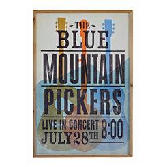 Vintage Blue Mountian Pickers Framed Art Print