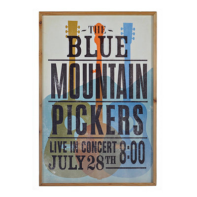Vintage Blue Mountian Pickers Framed Art Print