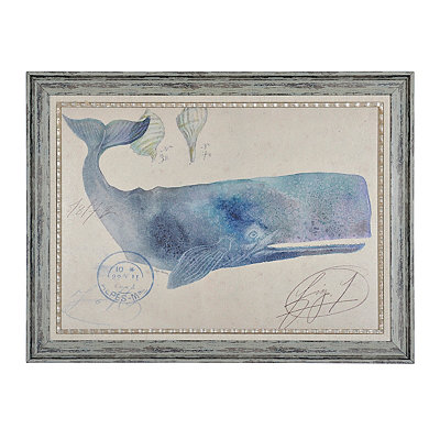 Nautical Whale Framed Art Print