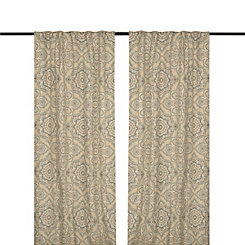 Blue Lapperine Curtain Panel Set, 108 in.