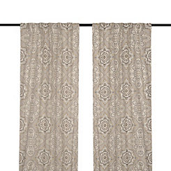 Tan Lapperine Curtain Panel Set, 96 in.