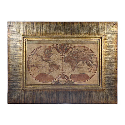 Olde World Map Framed Art Print
