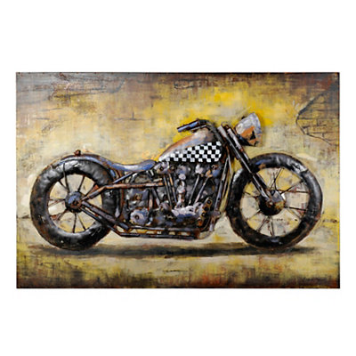Metal Motocycle Canvas Art Print
