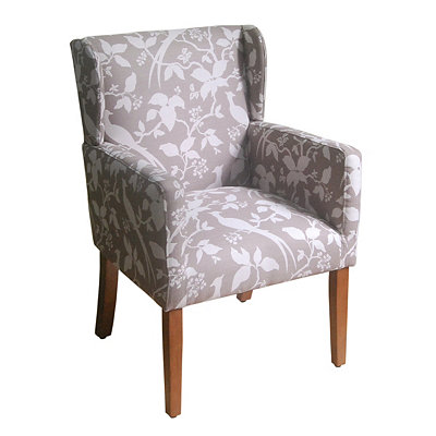 Tan Floral Arm Chair