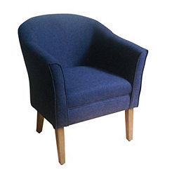 navy textured accent chair - Decorative Chairs