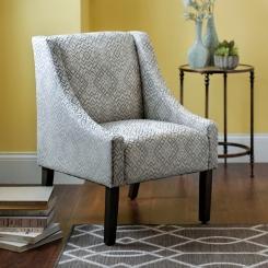 Medallion Velvet Swoop Accent Chair