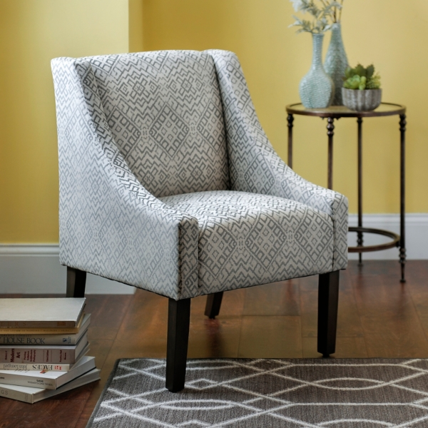 Medallion Velvet Swoop Accent Chair