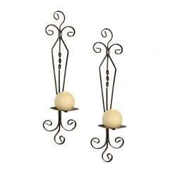 Elise Bronze Curls Sconces, Set of 2