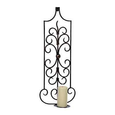 Black Kinsley Scroll Sconce