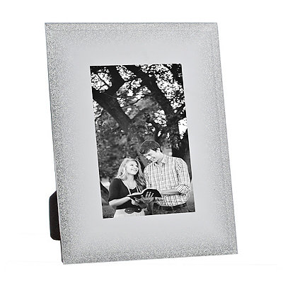 Silver Fade Glass Picture Frame, 4x6