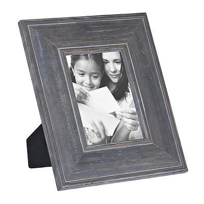 Natural Charm Dark Gray Wooden Picture Frame, 5x7