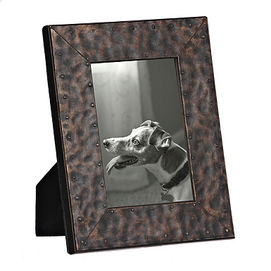 natural charm faux metal picture frame 4x6