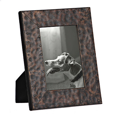 Natural Charm Faux Metal Picture Frame, 4x6