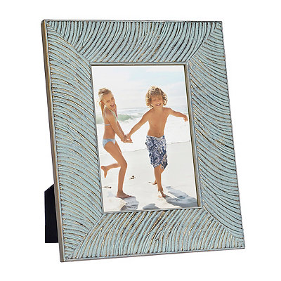 Natural Charm Carved Aqua Picture Frame, 5x7