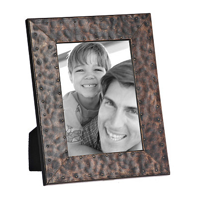 Natural Charm Faux Metal Picture Frame, 5x7
