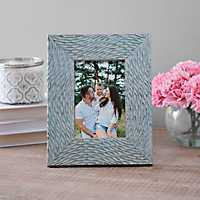 Natural Charm Carved Aqua Picture Frame, 4x6
