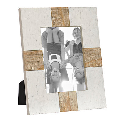 Natural Charm White Wood Plank Picture Frame, 5x7