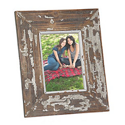 Distressed White Natural Picture Frame, 5x7