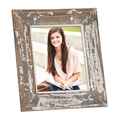 Natural Charm Distressed White Picture Frame, 8x10