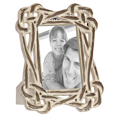 Natural Charm White Wooden Knot Picture Frame, 4x6