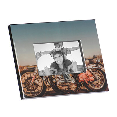 Glossy Motorcycle Picture Frame, 4x6