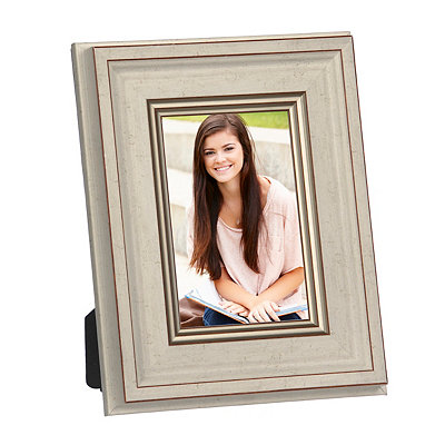 Natural Charm Ivory & Gold Picture Frame, 4x6