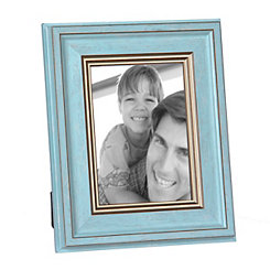 Blue and Gold Charm Picture Frame, 5x7