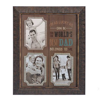 World's Best Dad 3-Opening Collage Frame