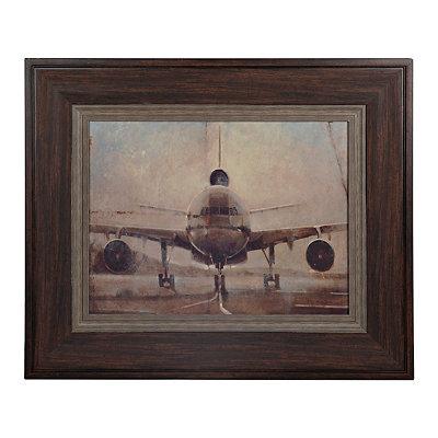 Tonal Plane Framed Art Print