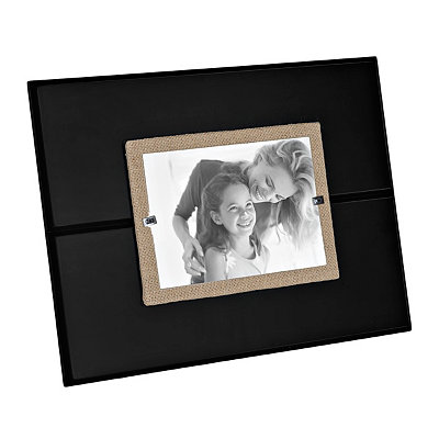 Black Burlap Wooden Picture Frame, 5x7