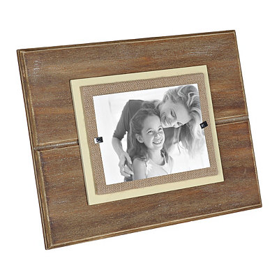 Natural Burlap Wooden Picture Frame, 5x7