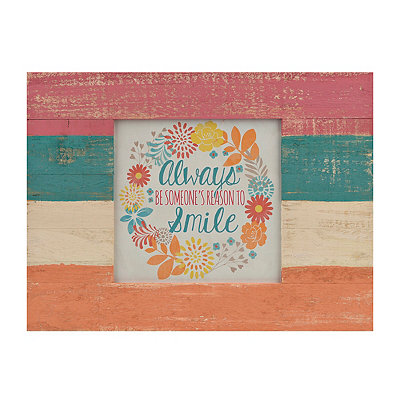 Reason to Smile Slatted Palette Framed Art Print