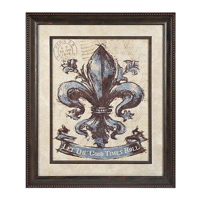 Good Times Fleur-de-Lis Framed Art Print