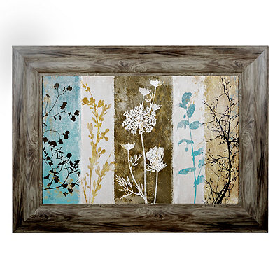 Rustic Floral Silhouette Framed Art Print
