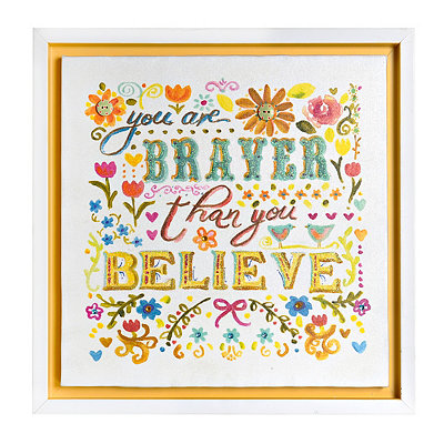 Braver Than You Believe Framed Art Print